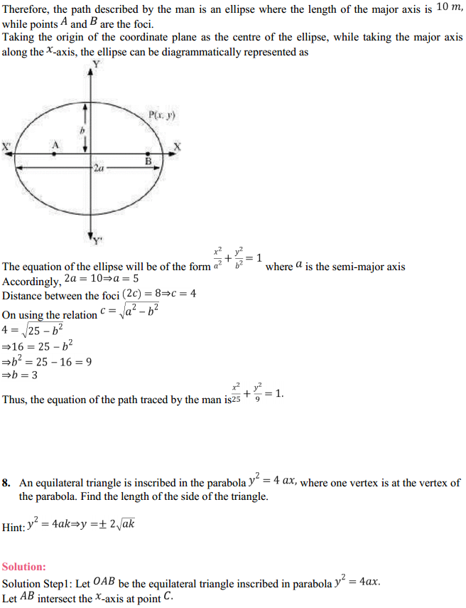 NCERT Solutions for Class 11 Maths Chapter 11 Conic Sections Miscellaneous Exercise 9