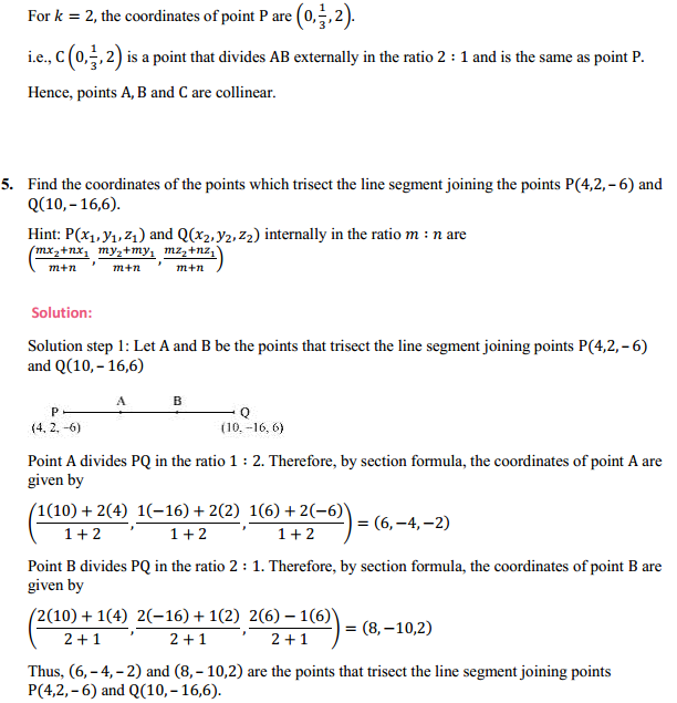NCERT Solutions for Class 11 Maths Chapter 12 Introduction to three Dimensional Geometry Ex 12.3 4