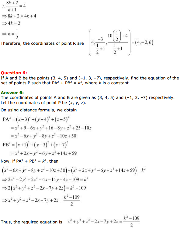 NCERT Solutions for Class 11 Maths Chapter 12 Introduction to three Dimensional Geometry Miscellaneous Exercise 5