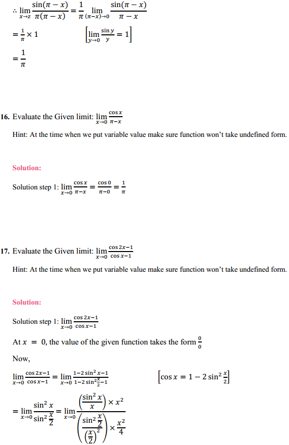 NCERT Solutions for Class 11 Maths Chapter 13 Limits and Derivatives Ex 13.1 12