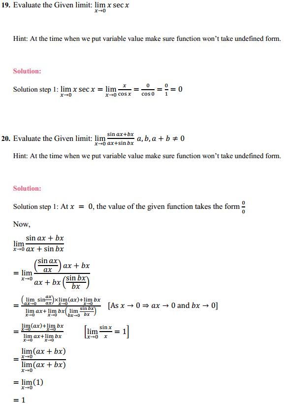 NCERT Solutions for Class 11 Maths Chapter 13 Limits and Derivatives Ex 13.1 14