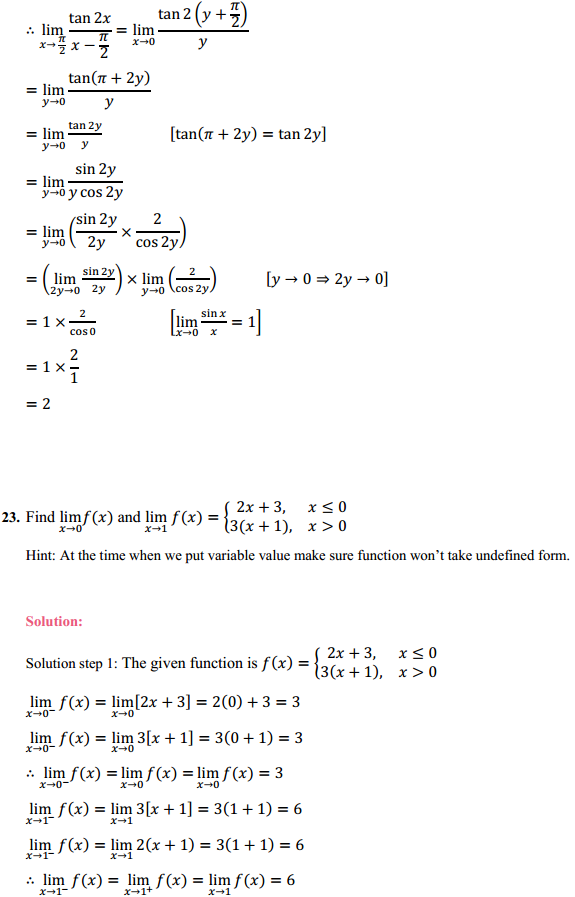 NCERT Solutions for Class 11 Maths Chapter 13 Limits and Derivatives Ex 13.1 17