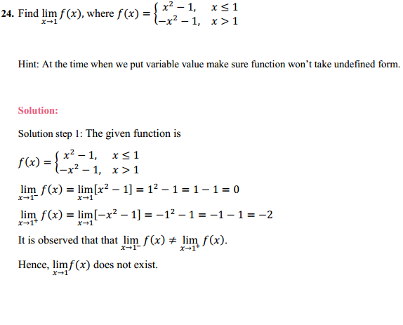 NCERT Solutions for Class 11 Maths Chapter 13 Limits and Derivatives Ex 13.1 18