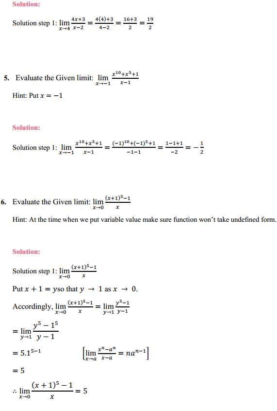 NCERT Solutions for Class 11 Maths Chapter 13 Limits and Derivatives Ex 13.1 2