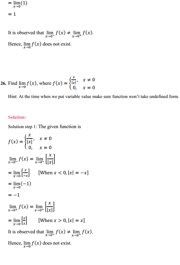 NCERT Solutions for Class 11 Maths Chapter 13 Limits and Derivatives Ex 13.1 20