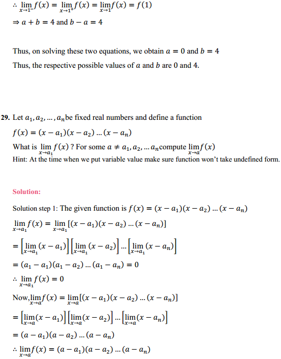 NCERT Solutions for Class 11 Maths Chapter 13 Limits and Derivatives Ex 13.1 24