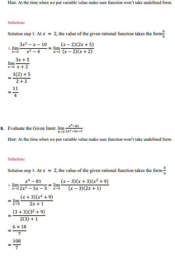 NCERT Solutions for Class 11 Maths Chapter 13 Limits and Derivatives Ex 13.1 4