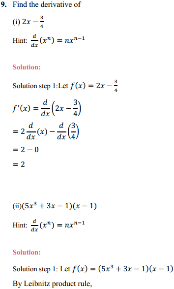 NCERT Solutions for Class 11 Maths Chapter 13 Limits and Derivatives Ex 13.2 12