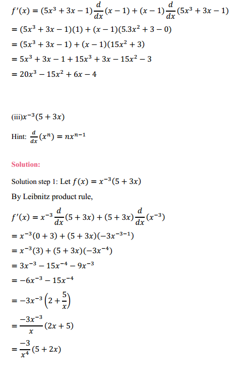 NCERT Solutions for Class 11 Maths Chapter 13 Limits and Derivatives Ex 13.2 13