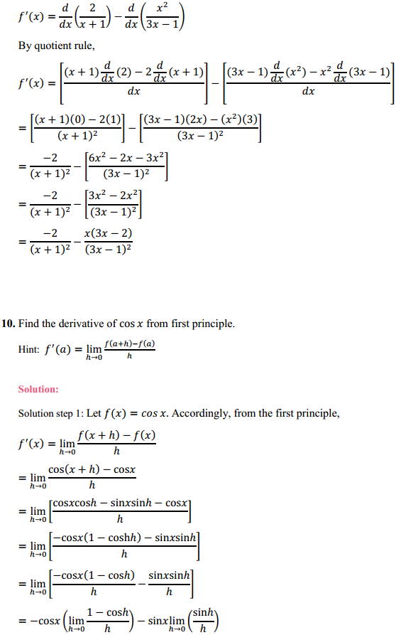 NCERT Solutions for Class 11 Maths Chapter 13 Limits and Derivatives Ex 13.2 17