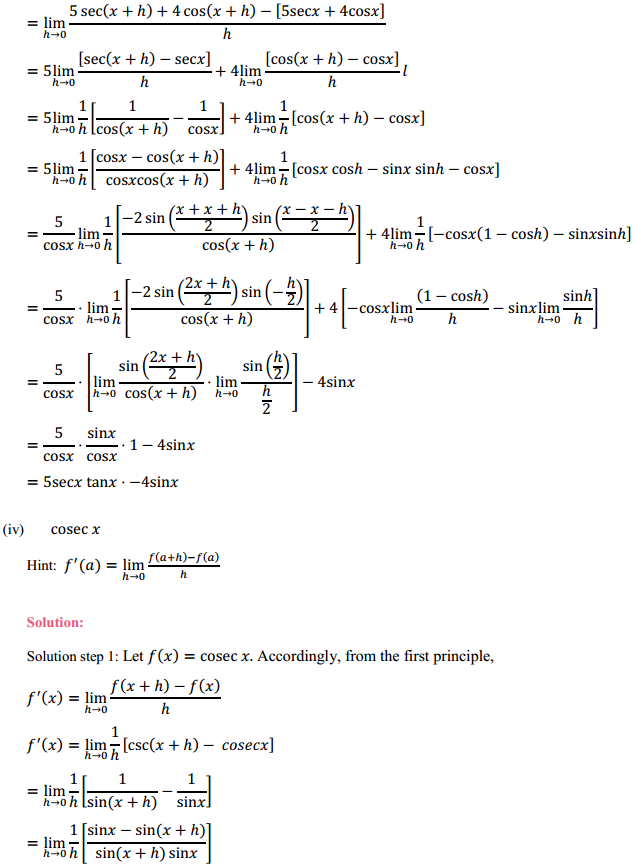 NCERT Solutions for Class 11 Maths Chapter 13 Limits and Derivatives Ex 13.2 21