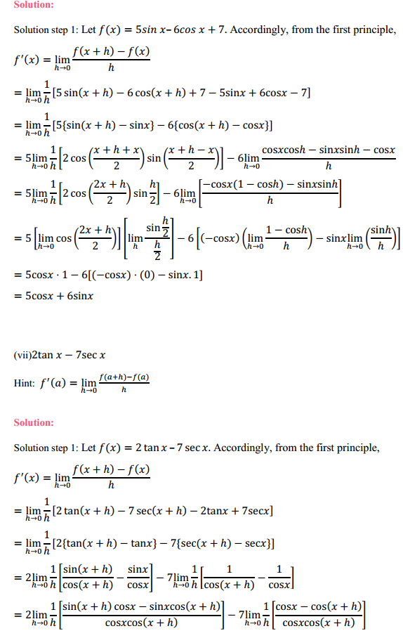 NCERT Solutions for Class 11 Maths Chapter 13 Limits and Derivatives Ex 13.2 25