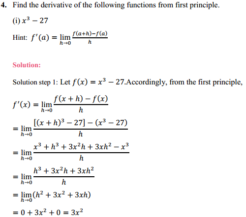 NCERT Solutions for Class 11 Maths Chapter 13 Limits and Derivatives Ex 13.2 3