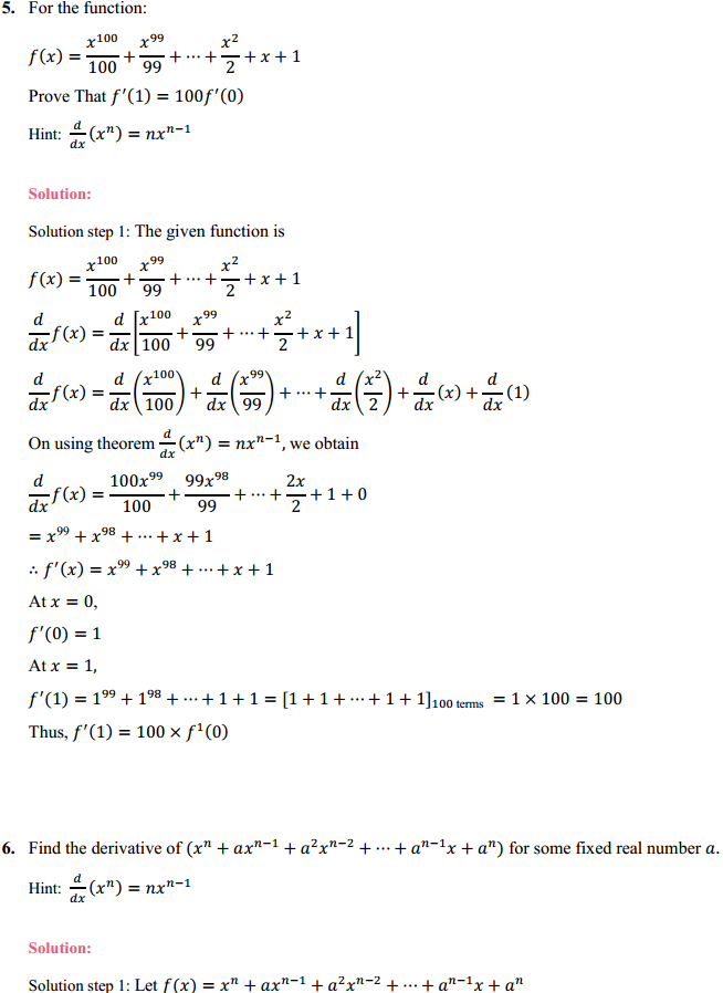NCERT Solutions for Class 11 Maths Chapter 13 Limits and Derivatives Ex 13.2 6