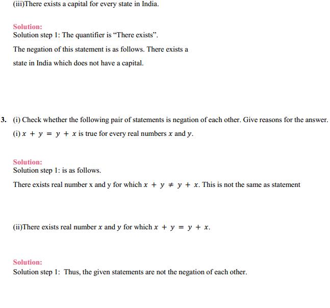 NCERT Solutions for Class 11 Maths Chapter 14 Mathematical Reasoning Ex 14.3 3