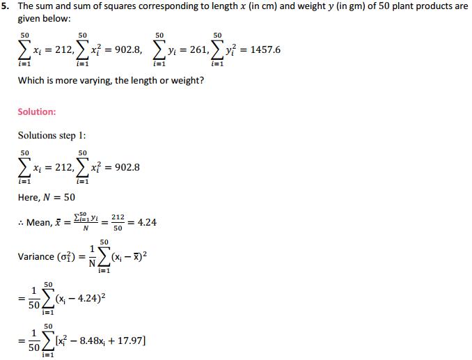 NCERT Solutions for Class 11 Maths Chapter 15 Statistics Ex 15.3 10