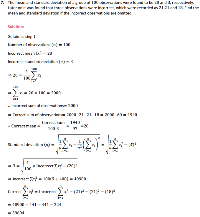 NCERT Solutions for Class 11 Maths Chapter 15 Statistics Miscellaneous Exercise 11