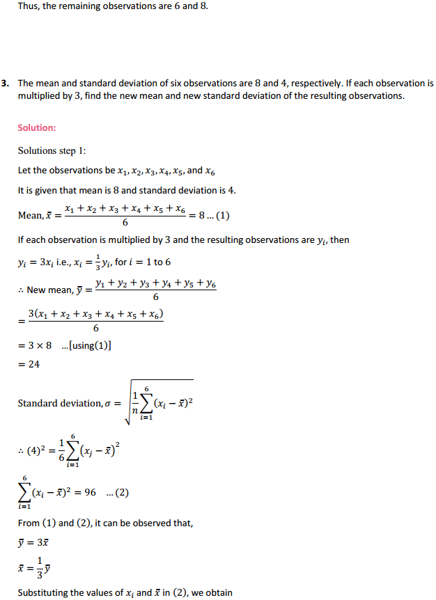 NCERT Solutions for Class 11 Maths Chapter 15 Statistics Miscellaneous Exercise 4