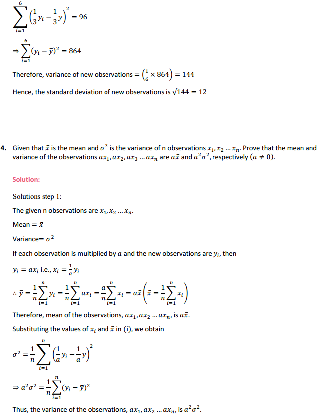 NCERT Solutions for Class 11 Maths Chapter 15 Statistics Miscellaneous Exercise 5