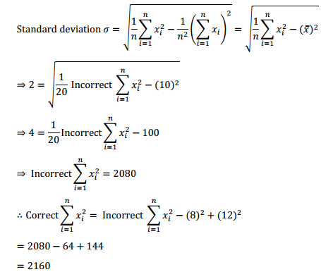 NCERT Solutions for Class 11 Maths Chapter 15 Statistics Miscellaneous Exercise 9