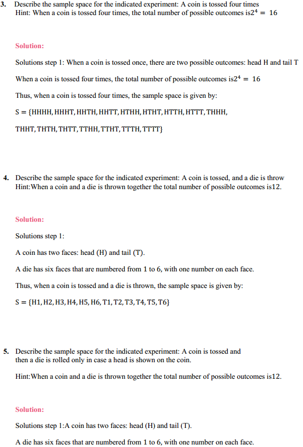 NCERT Solutions for Class 11 Maths Chapter 16 Probability Ex 16.1 2