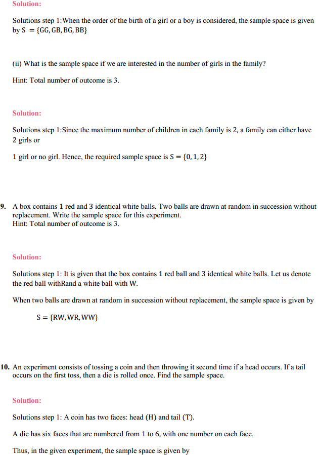 NCERT Solutions for Class 11 Maths Chapter 16 Probability Ex 16.1 4