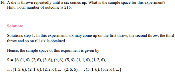 NCERT Solutions for Class 11 Maths Chapter 16 Probability Ex 16.1 8