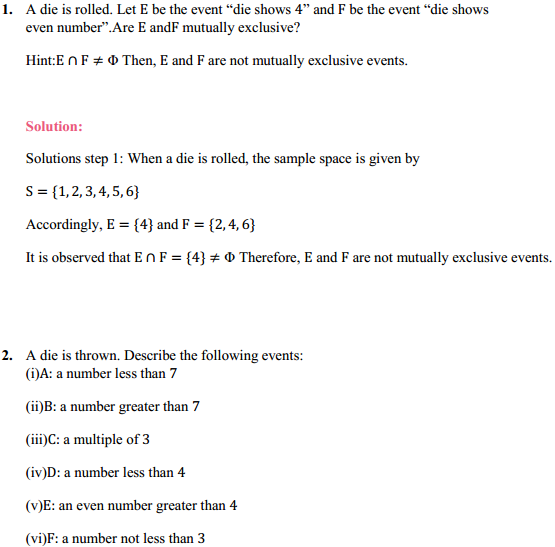 NCERT Solutions for Class 11 Maths Chapter 16 Probability Ex 16.2 1