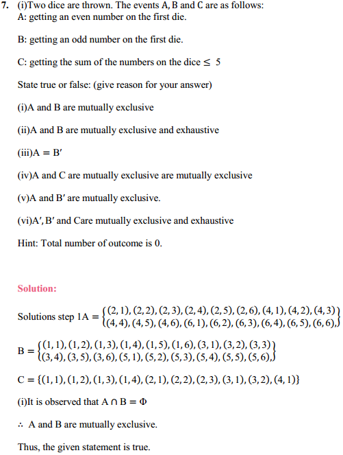 NCERT Solutions for Class 11 Maths Chapter 16 Probability Ex 16.2 12