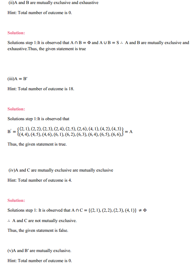 NCERT Solutions for Class 11 Maths Chapter 16 Probability Ex 16.2 13