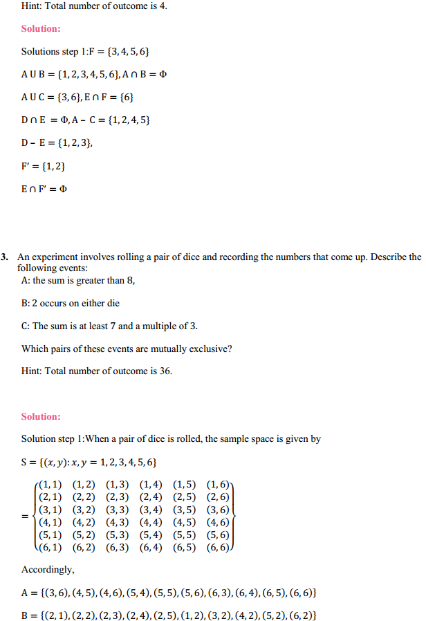 NCERT Solutions for Class 11 Maths Chapter 16 Probability Ex 16.2 3