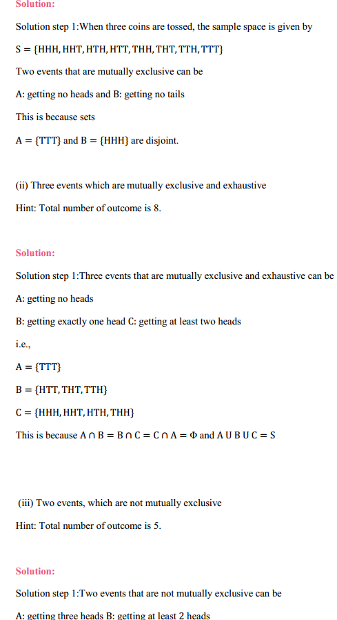 NCERT Solutions for Class 11 Maths Chapter 16 Probability Ex 16.2 6