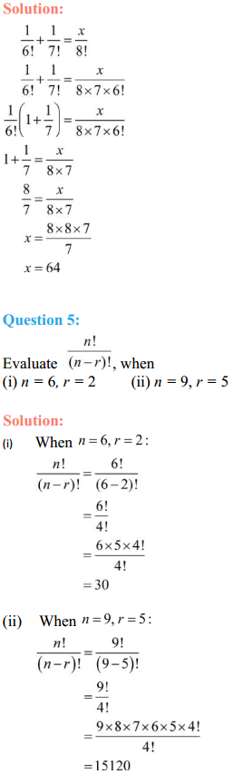 NCERT Solutions for Class 11 Maths Chapter 7 Permutations and Combinations Ex 7.2 2